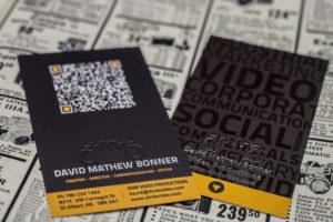 David Mathew Bonner Video Productions - Edmonton Videographer Business Card