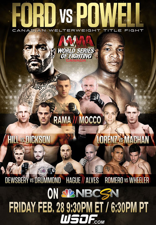 I was a camera man for WSOF event