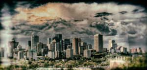Downtown skyline edmonton video production